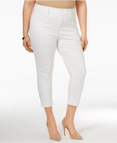 Melissa McCarthy Trendy Plus Size Cropped Pencil Jeans