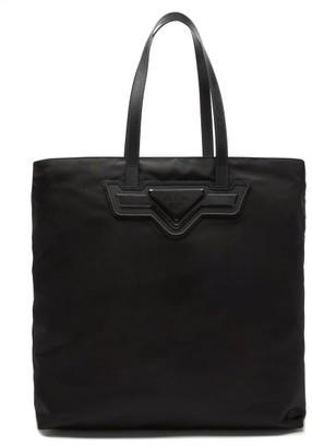 Prada Triangle Logo-plaque Nylon Tote Bag - Black