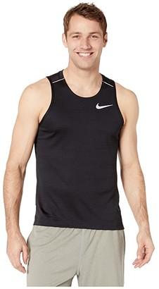 Nike Dry Miler Tank Top (Black/Black/Reflective Silver) Men's Sleeveless