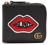 GUCCI Blind for Love leather cardholder