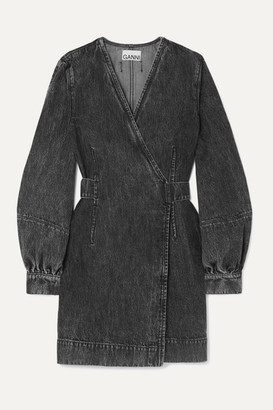 Ganni Denim Mini Wrap Dress