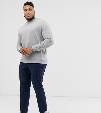 Jack and Jones Intelligence slim fit chinos in navy