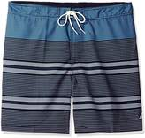 Nautica Men's Big and Tall Quick Dry Striped Swim Trunk