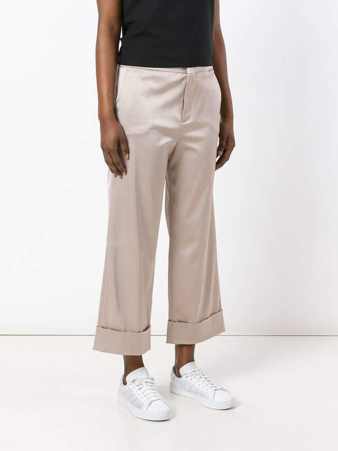 Pt01 wide leg cropped trousers