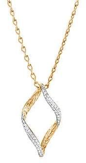 John Hardy Women's 14K Gold Diamond Pendant Necklace