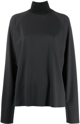 Barena High Neck Long Sleeve Top