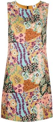 M Missoni Floral Print Sleeveless Mini Dress