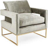 Brownstone Upholstery Bevin Accent Chair, Metal Velvet