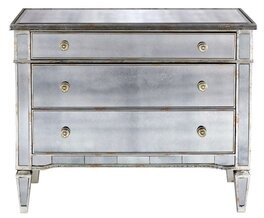 Rosdorf Park Holley Antique 3 Drawer Mirrored Accent Chest