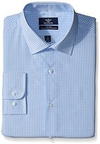 Dockers Water Blue Check Fitted Shirt - Spread Collar