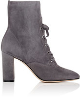Gianvito Rossi Women's Suede Lace-Up Ankle Boots