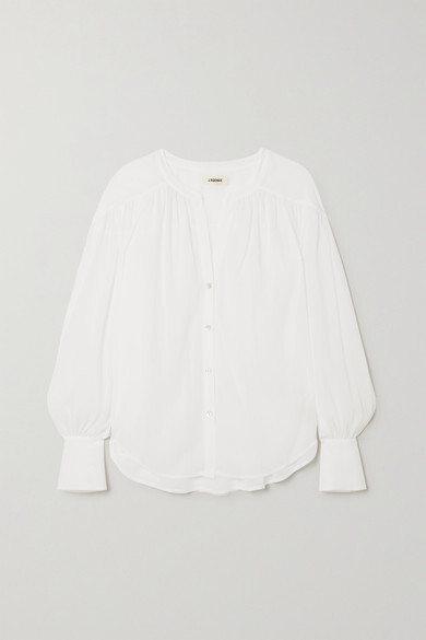 Thumbnail for your product : L'Agence Farah Crepon Blouse - White