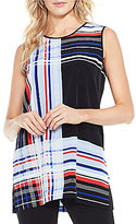 Vince Camuto Linear Graphic Panel Tunic