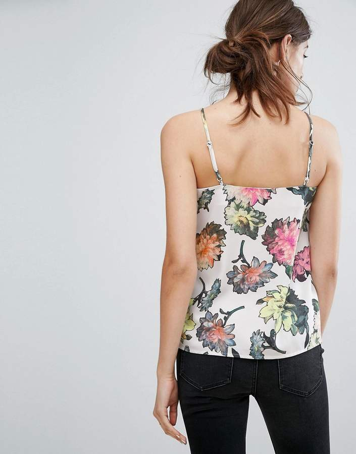 Warehouse Decoupage Floral Cami