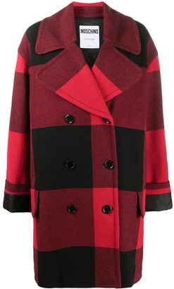 Moschino Checked Double-Breasted Coat