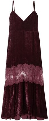 Stella McCartney Lace-paneled Velvet Maxi Dress