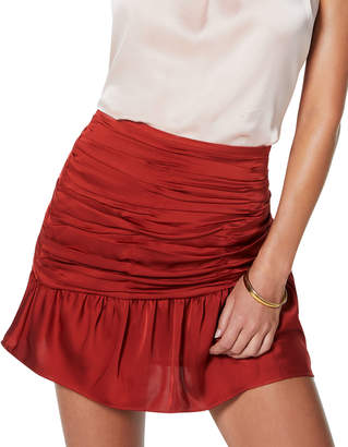 Ramy Brook Mini Ruched Short Skirt