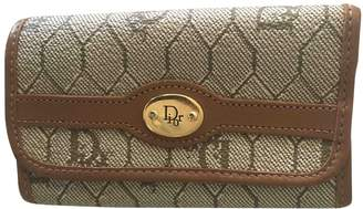 Christian Dior Beige Cloth Purses, wallets & cases