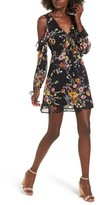 Band of Gypsies Women's Cold Shoulder Floral Dress