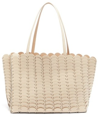 Paco Rabanne Pacoio Leather Tote Bag - Beige