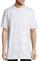 Marcelo Burlon County of Milan Tonal Patches Short-Sleeve T-Shirt, White