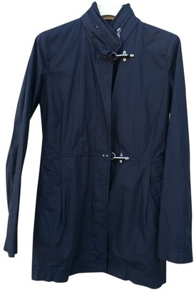 Fay Grey / Black Cotton Trench Coat for Women