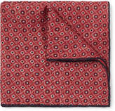 Brunello Cucinelli - Printed Linen And Cotton-blend Pocket-square