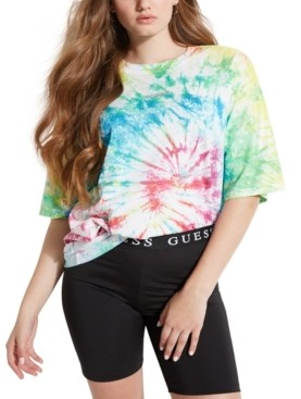 GUESS Cotton Tie-Dye T-Shirt