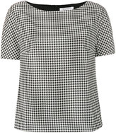 Max Mara dogtooth top - women - Spandex/Elastane/Viscose/Virgin Wool - 6