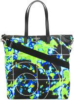 Prada graphic print tote bag