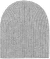 Johnstons of Elgin Ribbed Cashmere Beanie - Gray