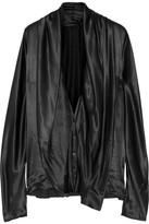 Haider Ackermann Draped Silk-satin Blouse - Black