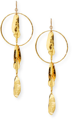 Devon Leigh 18k Gold-Dipped Petal Drop Earrings