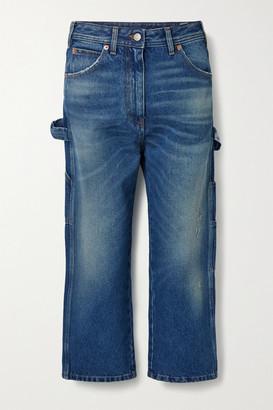 MM6 MAISON MARGIELA Cropped Boyfriend Jeans - Blue
