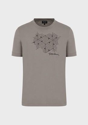 Giorgio Armani Pima Jersey T-Shirt With Heart Embroidery