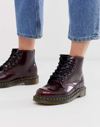 Dr. Martens Vegan 101 ankle boots in cherry-Red