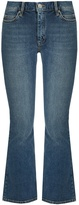MiH Jeans Marty high-rise flared cropped jeans