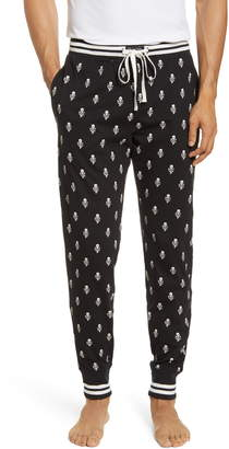 Polo Ralph Lauren Skull Print Flannel Jogger Pajama Bottoms
