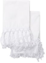 Melange Home Tassel Cotton Percale Pillowcases (Set of 2)