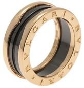 Bulgari 18k Rose Gold and Ceramic Band Ring Size 6.25
