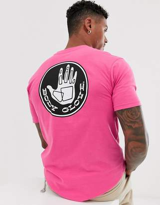 Body Glove Core Logo t-shirt with back print in pink