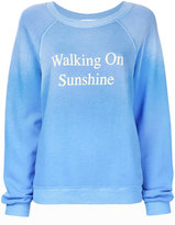 Wildfox Couture Walking On Sunshine sweatshirt - women - Cotton/Polyester - XS