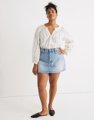 Madewell Rigid Denim Relaxed Mini Skirt in Northdale Wash