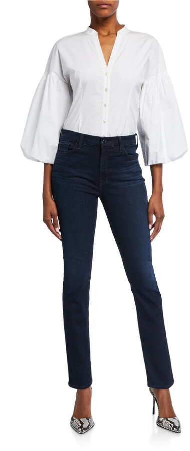 Thumbnail for your product : Jen7 High-Rise Skinny Jeans