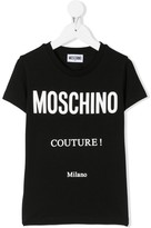 Moschino Kids couture print T-shirt