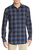 Bugatchi Classic-Fit Buffalo Check Windowpane Cotton Sportshirt
