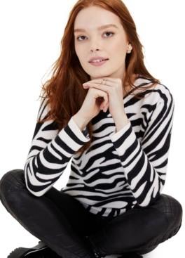 Charter Club Cashmere Zebra-Print Sweater, Created for Macy's