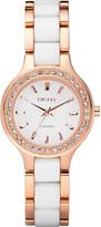 DKNY NY8141 rose gold and ceramic watch