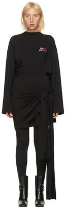 Balenciaga Black Gym Wear Wrap Dress
