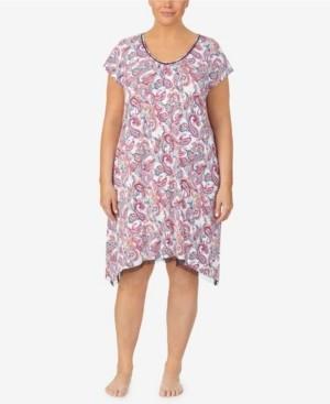 Ellen Tracy Women's Plus Size Short Sleeve Chemise